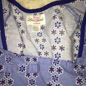 fda91cb518e Urbane Tops | Ombr Scrub Top Blue Floral Ornate Design Xsm | Poshmark